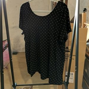 Torrid polkadot lace up back tee